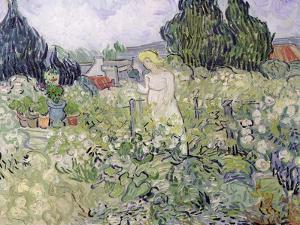 Mademoiselle Gachet in Her Garden at Auvers-Sur-Oise, c.1890 by Vincent van Gogh