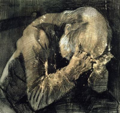 Man with His Head in His Hands by Vincent van Gogh