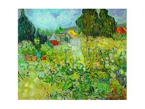 Mlle. Gachet dans son jardin a Auvers-sur-Oise (1890). Oil on canvas 46 x 55.5 cm R.F. 1954-13. by Vincent van Gogh