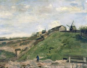 Montmartre Hill with Stone Quarry by Vincent van Gogh