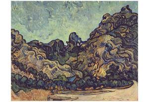 Vincent Van Gogh (Mound at Saint-Rémy) Art Poster Print