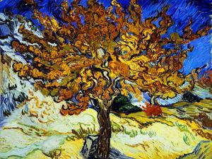 Mulberry Tree, c.1889 by Vincent van Gogh