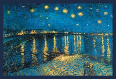 Night at the Rhone by Vincent van Gogh