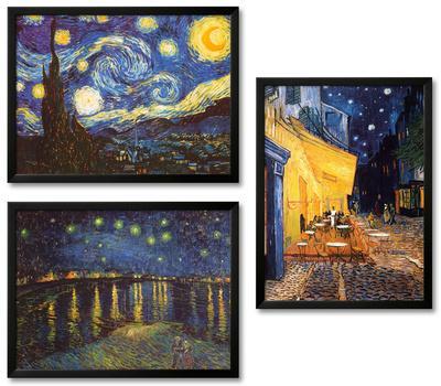 Vincent van Gogh Nightscapes Framed Art Print Set