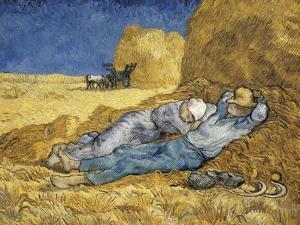 Noon, or the Siesta, after Millet by Vincent van Gogh