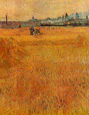 Oat Field with a View of Arles by Vincent van Gogh