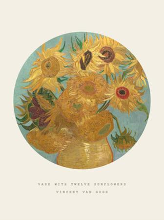 Old Masters, New Circles: Sunflowers, c.1889 by Vincent van Gogh