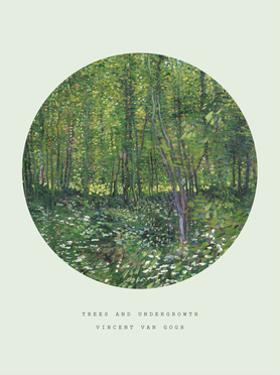 Old Masters, New Circles: Trees and Undergrowth, c.1887 by Vincent van Gogh