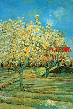 Orchard with Cypress by Van Gogh