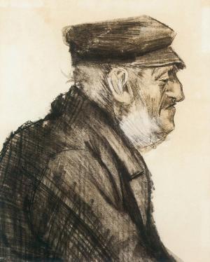 Orphan Man, Bust-Length by Vincent van Gogh