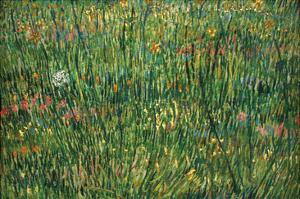 Patch of Grass by Van Gogh by Vincent van Gogh
