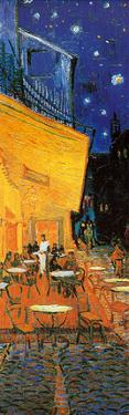 Pavement Cafe at Night Detail by Vincent van Gogh