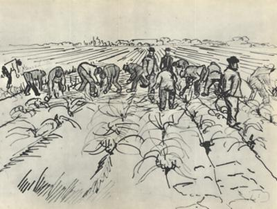 Paysans au Travail by Vincent van Gogh