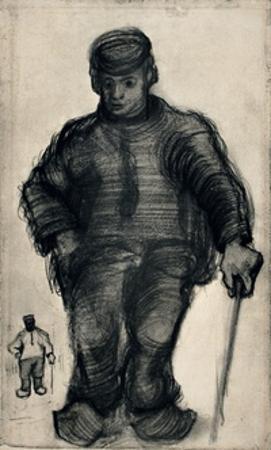 Peasant Walking by Vincent van Gogh