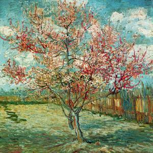 Pêcher en fleurs (Souvenir de Mauve) (Détail) by Vincent van Gogh