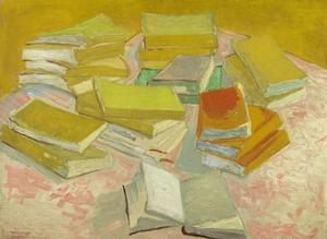 Piles of French Novels by Vincent van Gogh