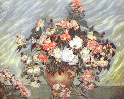 Pink and White Roses, c.1890 by Vincent van Gogh