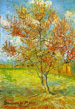 Vincent Van Gogh Pink Peach Tree in Blossom Reminiscence of Mauve Art Print Poster