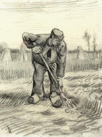 Potato Gatherer, 1885 by Vincent van Gogh