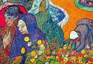 Vincent Van Gogh Promenade in Arles Art Print Poster