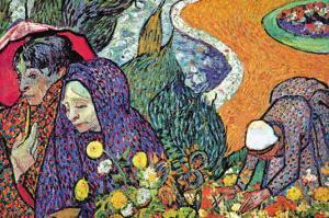 Promenade In Arles by Vincent van Gogh