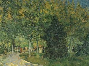 Promenaders, Jardin Du Poete (Arles), 1888 by Vincent van Gogh