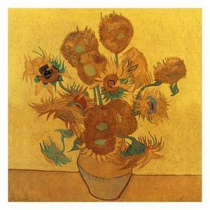 Quatorze tournesols dans un vase (Détail) by Vincent van Gogh