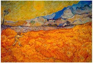 Vincent Van Gogh Reaper Art Print Poster