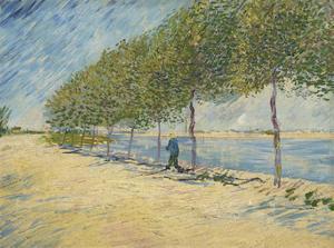 Road Along the Seine near Asnieres, 1887 by Vincent van Gogh