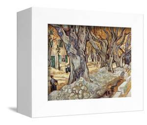 Road Menders in a Lane With Heavy Plane Trees by Vincent van Gogh