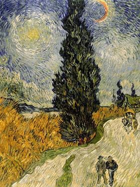 Road with Cypresses, c.1890 by Vincent van Gogh