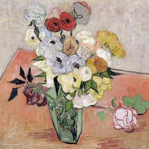 Roses and Anemones, c.1890 by Vincent van Gogh