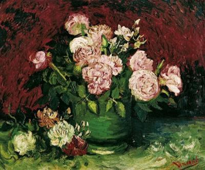 Roses and Peonies, c.1886 by Vincent van Gogh