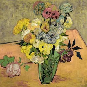 Roses et anemones. Oil on canvas (June 1890) 51.7 x 52 cm R.F. 1954-12. by Vincent van Gogh