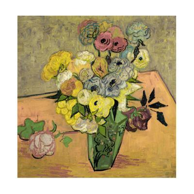 Roses et anemones. Oil on canvas (June 1890) 51.7 x 52 cm R.F. 1954-12. by Vincent van Gogh