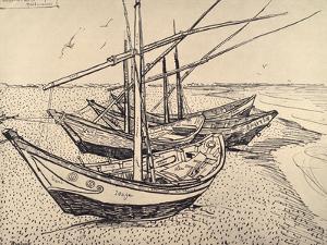 Sailing Boats in Saintes-Maries, 1888 by Vincent van Gogh