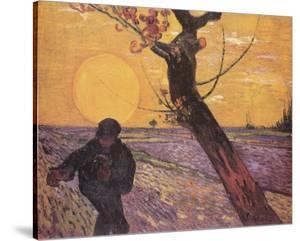 Samann Bei Untergehen by Vincent van Gogh