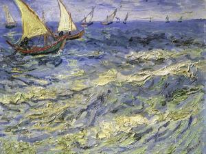 Seascape at Saintes, Maries by Vincent van Gogh