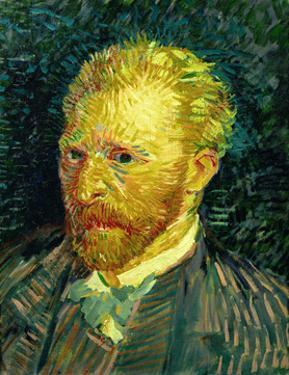 Self-portrait. Oil on canvas (1887) 44.1 x 35.1 cm R.F. 1947-28. by Vincent van Gogh