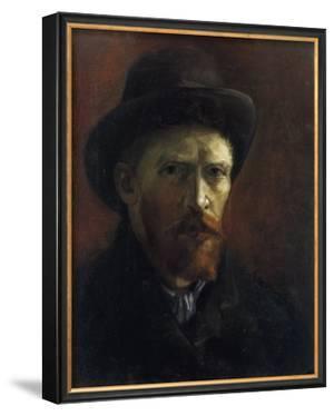 Self-Portrait with Dark Felt Hat by Vincent van Gogh