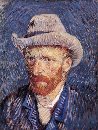 Self Portrait with Felt Hat, 1887-88 by Vincent van Gogh
