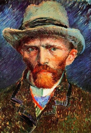 Vincent Van Gogh Self-Portrait with Grey Felt Hat Art Print Poster