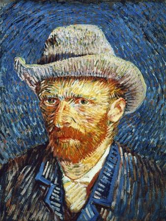 Self Portrait with Grey Felt Hat, c.1887 by Vincent van Gogh