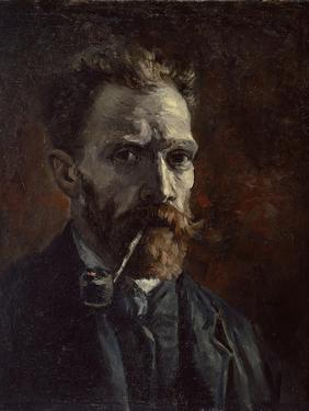 Self-Portrait with Pipe, 1886 by Vincent van Gogh