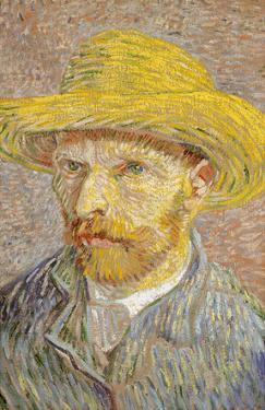 Self Portrait with Straw Hat 1887 by Vincent van Gogh