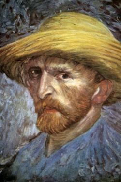 Self Portrait with Straw Hat, 1887 by Vincent van Gogh