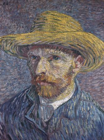 Self Portrait with Straw Hat, 1888 by Vincent van Gogh