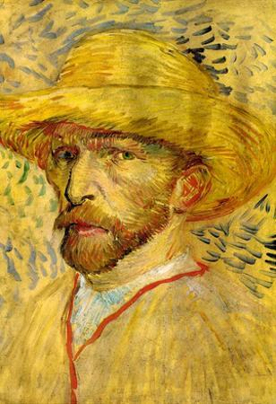 Vincent Van Gogh Self-Portrait with Straw Hat 2 Art Print Poster