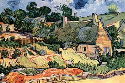 Shelters in Cordeville by Van Gogh by Vincent van Gogh