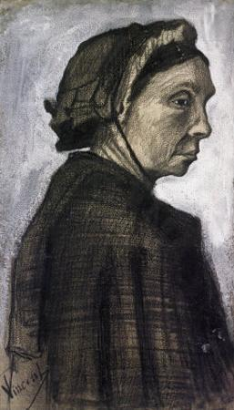 Sien's Mother Wearing a Dark Cap by Vincent van Gogh